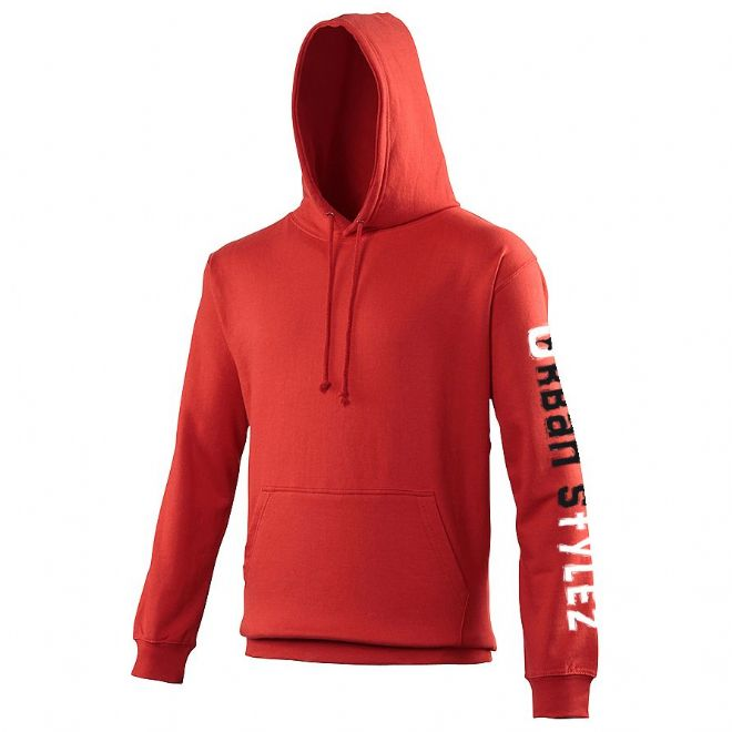 Red Hoodie with Urban Styles left arm